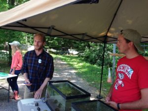 Vince Butitta speaks up for mussels at the Trout Lake Station Open House
