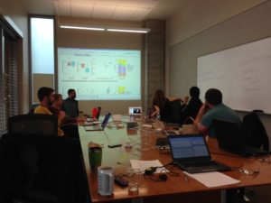 The winter limnology working group intently focused on the data