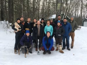 Current group, alumni, and friends at Annual Trout Lake Writing Retreat, 2018